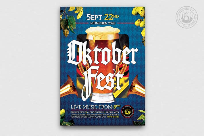 Thumbnail for Oktoberfest Flyer Template V13