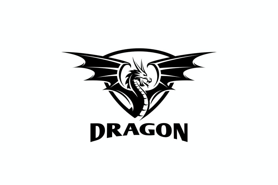Simple Dragon Logo Design