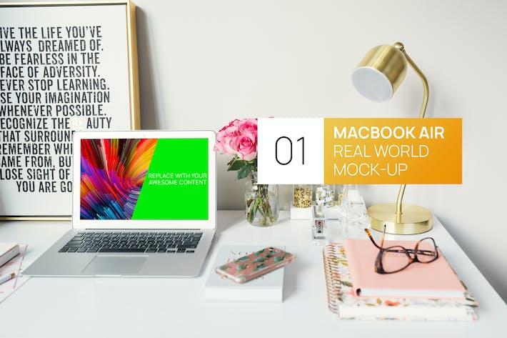 Thumbnail for Bright MacBook Air Real World Photo Mock-up