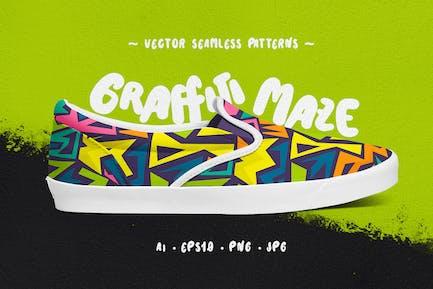 Graffiti Labyrinth Nahtlose Muster