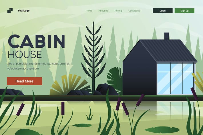 Thumbnail for Wohnung Modernes Design Illustration von Cabin House