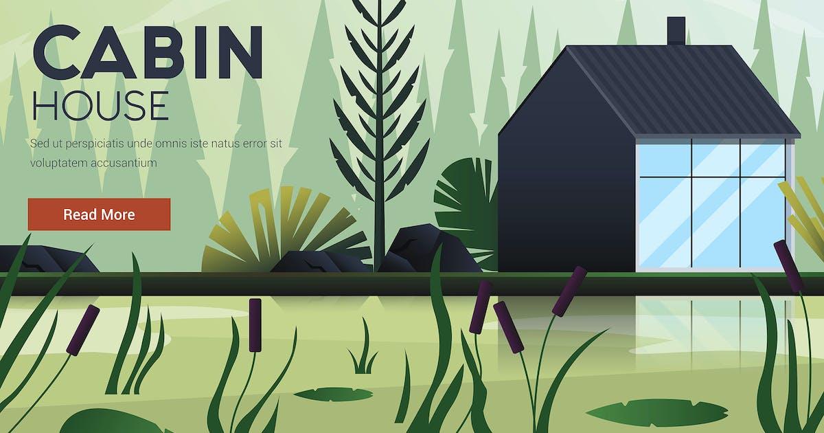 Download Flat Modern design Illustration of Cabin House by graphics4u