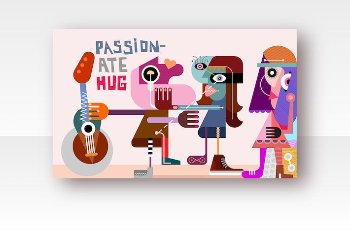 Thumbnail for Passionate Hug vector illustration