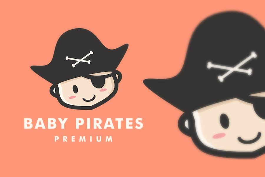 Baby Pirate Logo Illustration