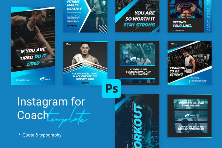 Thumbnail for Editable Quotes Instagram Templates for Yoga V1