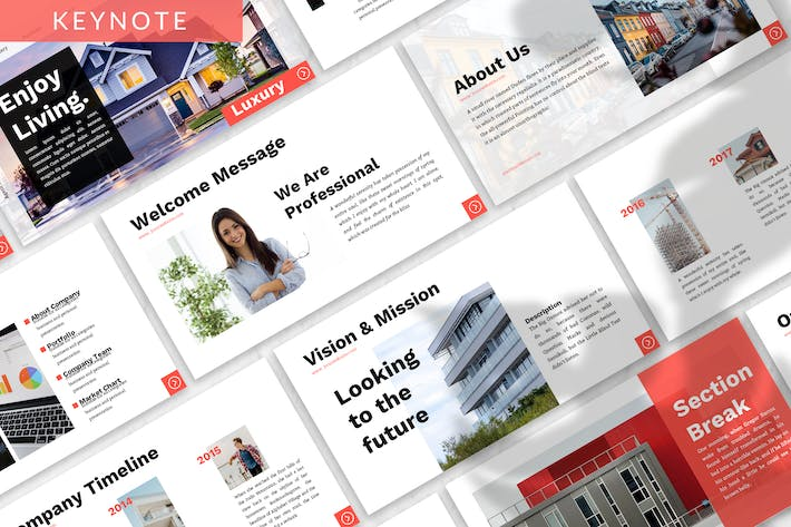 Thumbnail for Luxury - Property Business Keynote Template