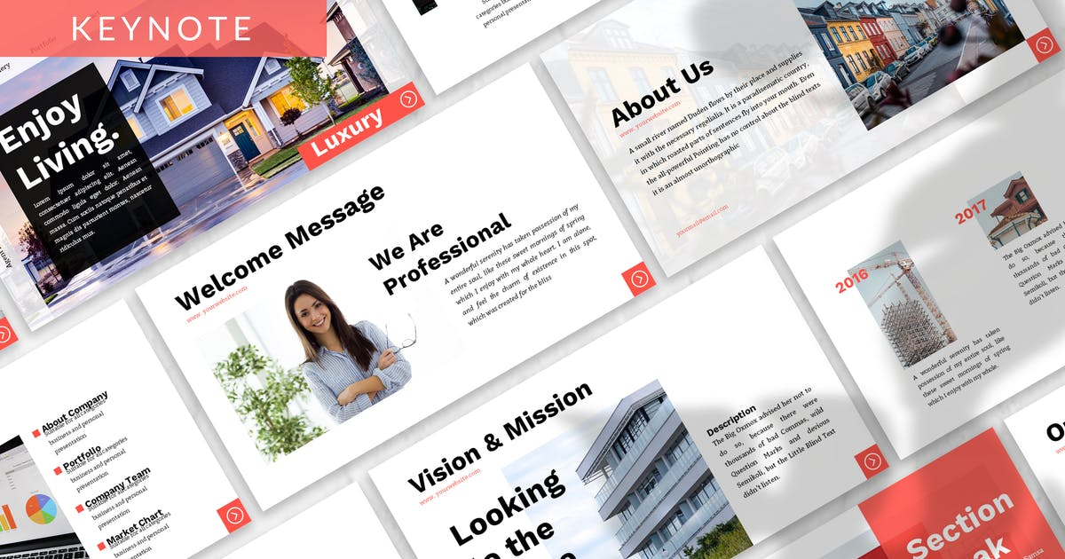 Download Luxury - Property Business Keynote Template by 83des