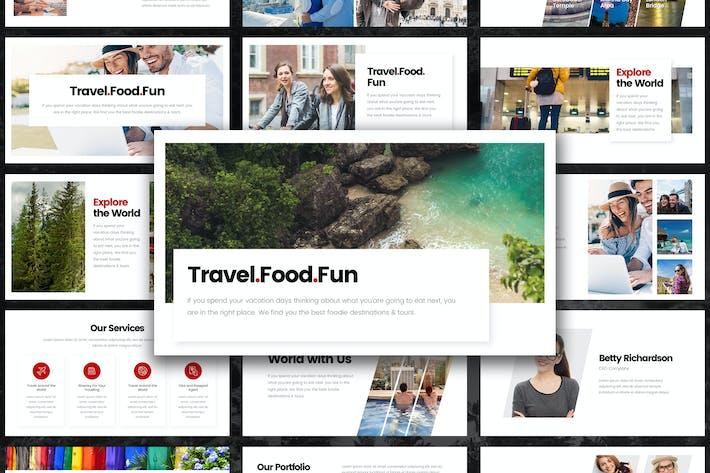 Thumbnail for Fun Travel Tour PowerPoint Template