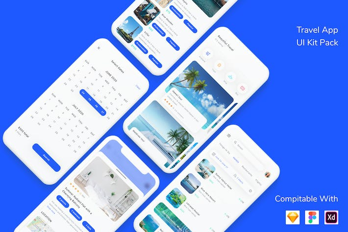Thumbnail for Travel App UI Kit Pack