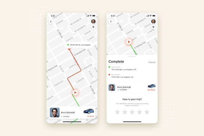 Thumbnail for Taxi Booking mobile UI Concept