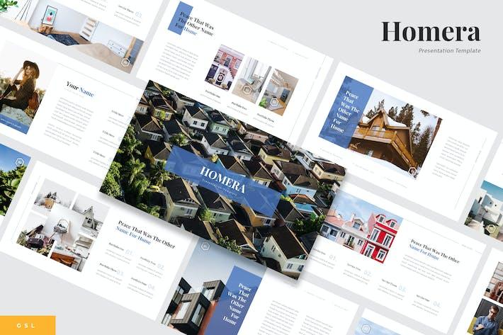 Thumbnail for Homera - Immobilien Google Slides Vorlage