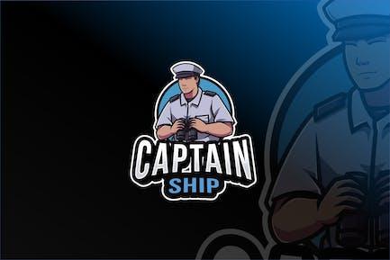 Captain Ship Logo Template