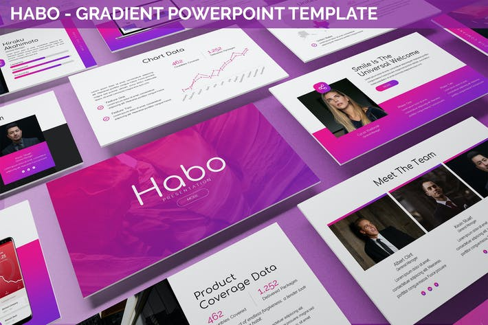 Thumbnail for Habo - Gradient Powerpoint Template