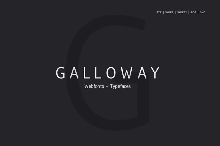 Thumbnail for Galloway  - Modern Typeface + WebFont