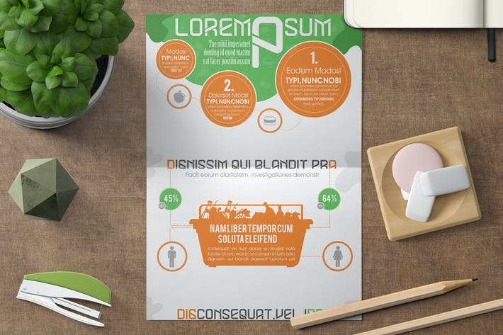 Cover Image For Infographics Template – Fruits & Food