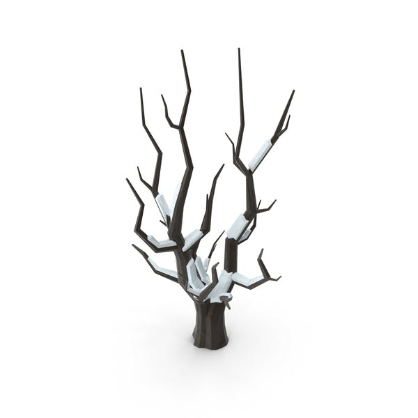 Cover Image for Low Poly Snow Covered Bare Tree