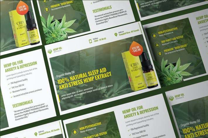Cover Image For Cannabis Hemp Oil Products Post Card