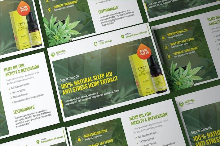 Thumbnail for Cannabis Hemp Oil Products Post Card