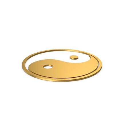 Gold Symbol Yin Yang