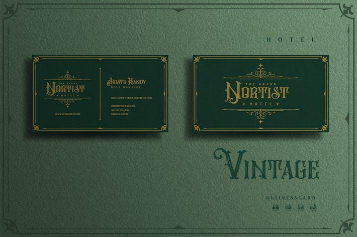 Thumbnail for Vintage Elegant Theme - Hotel Businesscard