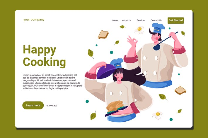 Thumbnail for Happy Cooking - Landing Page