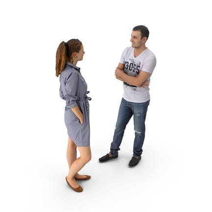 Мужчина и женщина говорить