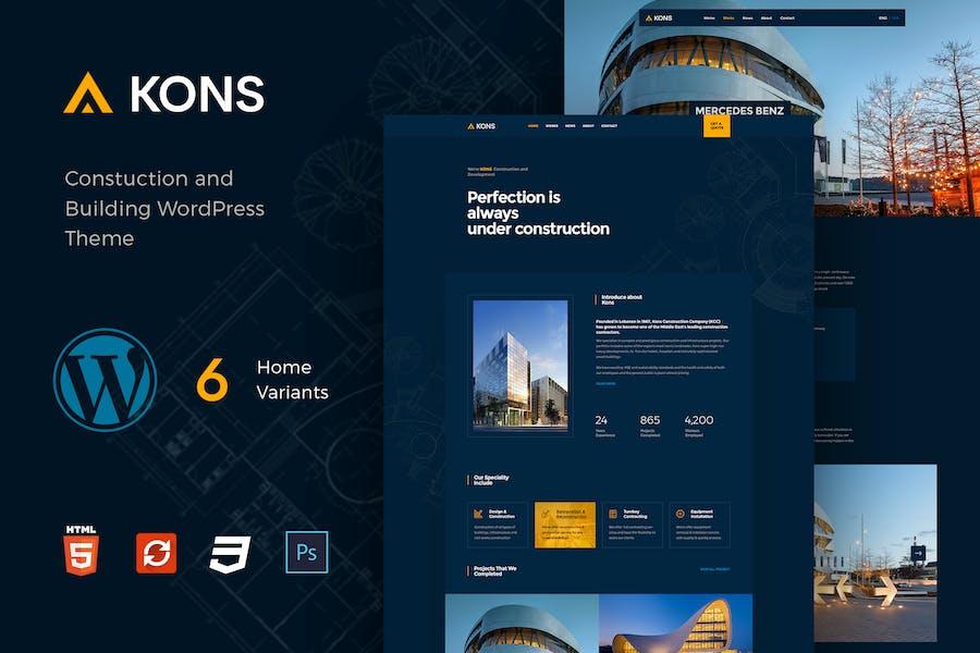 Kons - Construction WordPress Theme