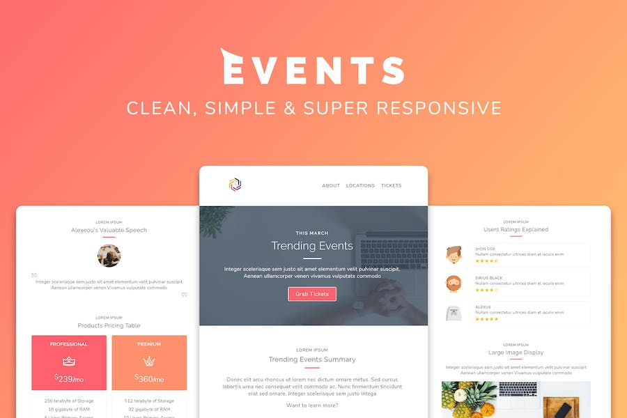Events Responsive Multipurpose Email Template