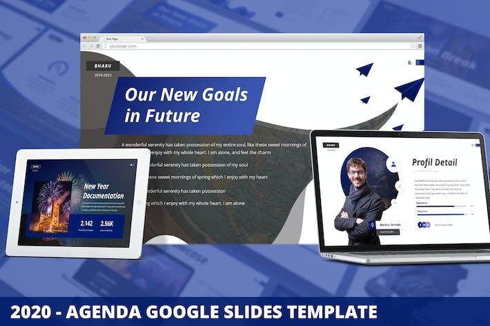 Thumbnail for 2020 - Повестка дня Google Слайды Шаблон