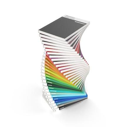Pila espiral de revistas de Diseño