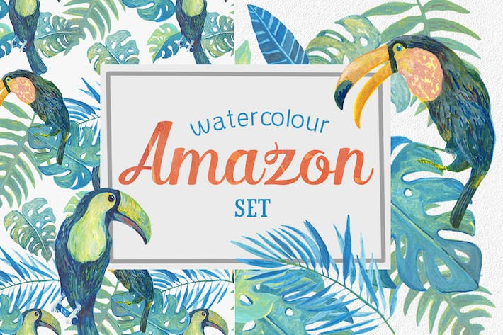 Thumbnail for Watercolour Amazon Clipart