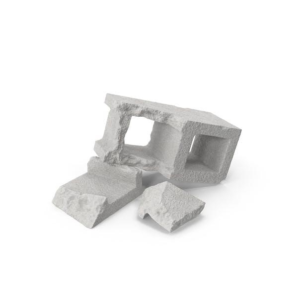 Cinder Blocks Broken