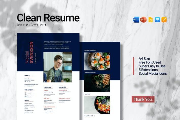 Thumbnail for Chef Resume Presentation