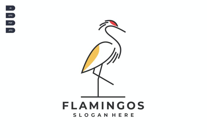 Thumbnail for Minimalist Flamingo Creative Logo Template