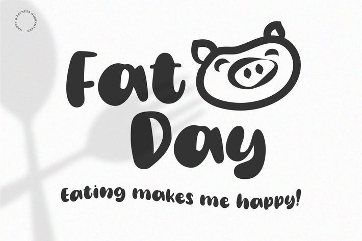 Thumbnail for Fat Day - Affichage | Écrit à la main | Logo Police