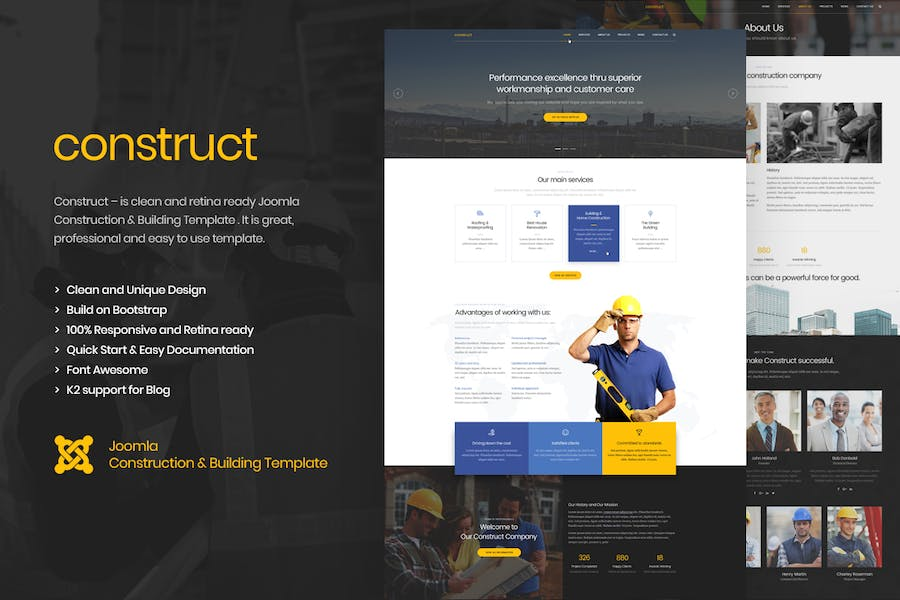 Construct - Construction Joomla Template