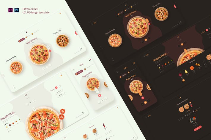 Thumbnail for Pizu - Pizza order UX, UI design template