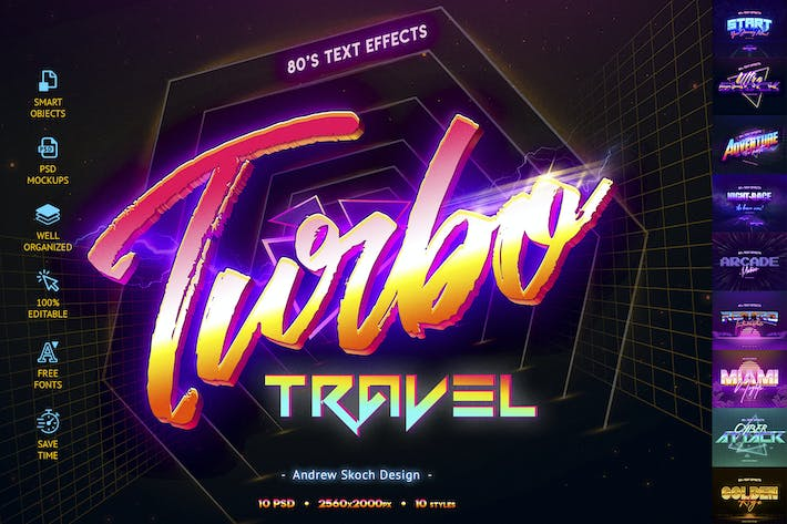 Thumbnail for 80's Retro Text Effects vol.2