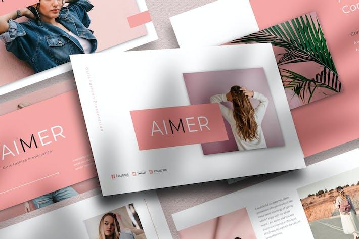 Aimer - Girls Fashion Google Slide