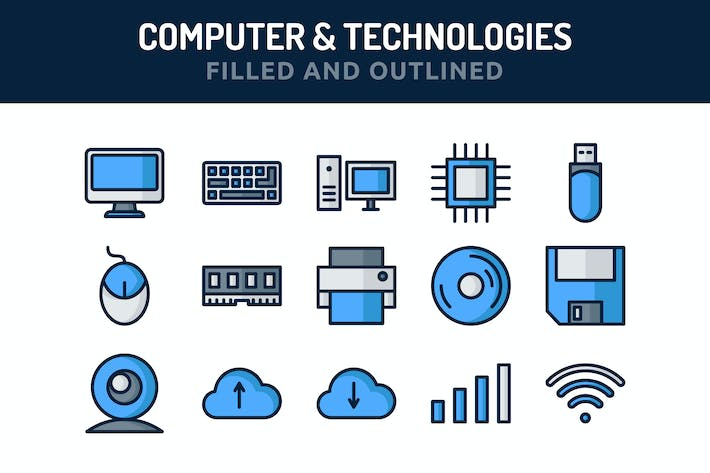 Thumbnail for Computer and Technologies Icons