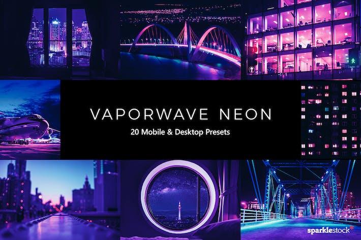 20 предустановок и LUT Vaporwave Neon Lightroom