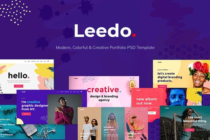 Thumbnail for Leedo - Creative & Colorful Portfolio PSD Template