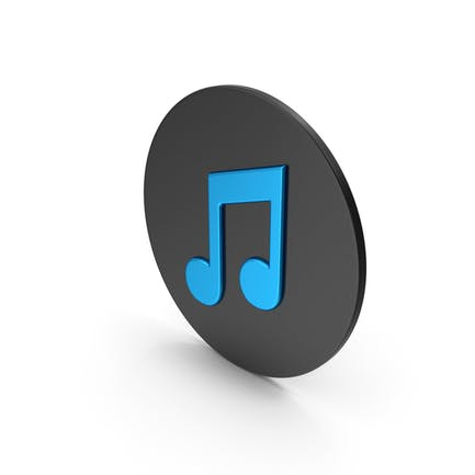 Music Note Blue Icon