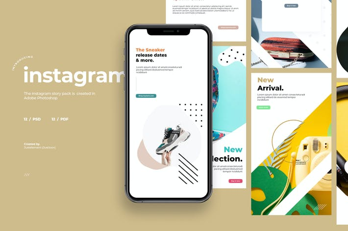 Thumbnail for 12 Promo Instagram Story Template