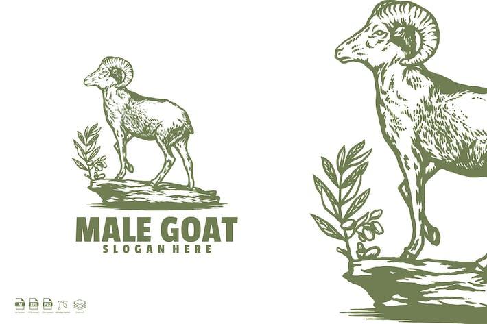Thumbnail for Logovorlage für männliche Ziegen
