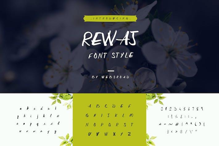 Rewaj - Пользовательский стиль шрифта ручной работы