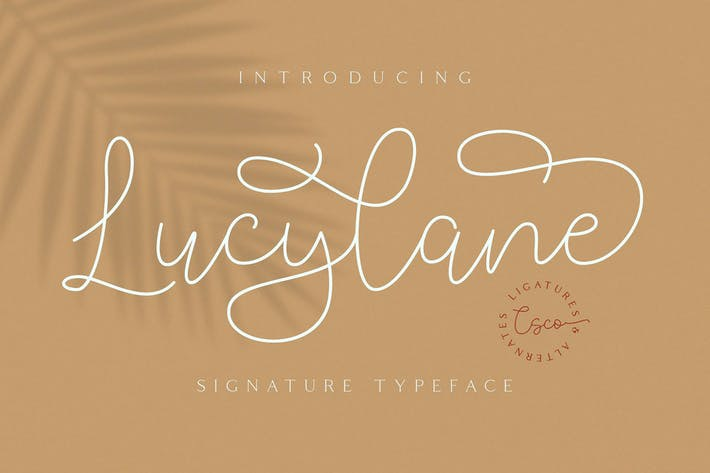Thumbnail for Lucylane - Signature Typeface