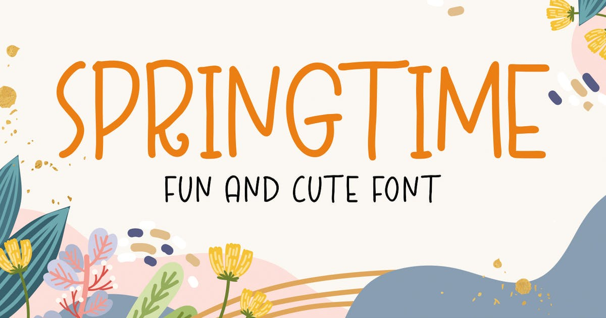 Download Spring Time - Fun and Cute Font by puricreative