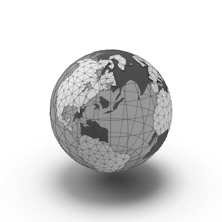 Wire Frame Globe with Transparent Water