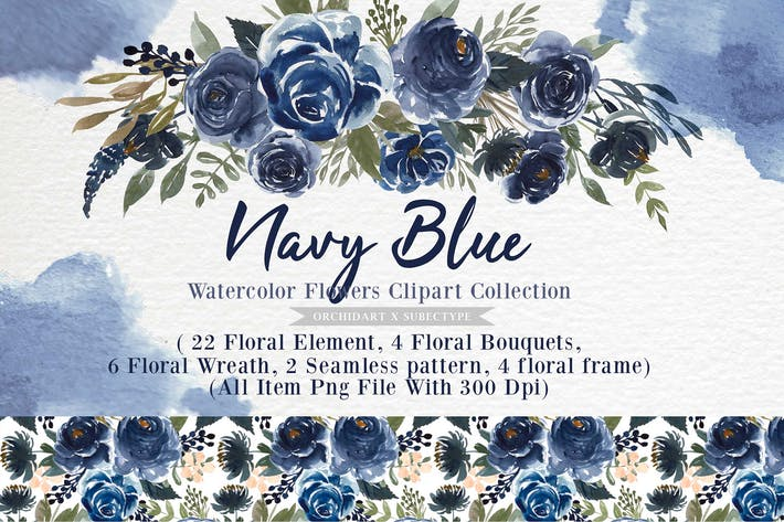 Thumbnail for Navy Blue Flower